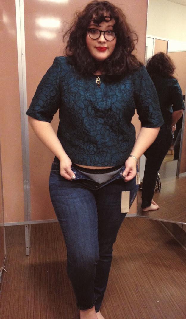 Jedna žena, jedny nohavice, rôzne veľkosti