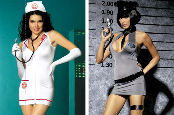 Sexi dámske kostýmy sestry a policajtky