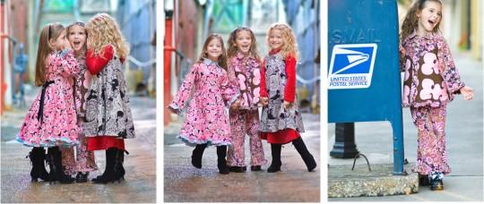 Malé dievčatká v kvetinových šatách