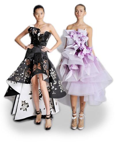 Medzi najpodarenejšie modely patria černobiele kreácie. Nádherné sú  napríklad čiernobiele šaty s kruhovou asymetrickou sukňou s priestrihmi  ruží. ca38c131b7d