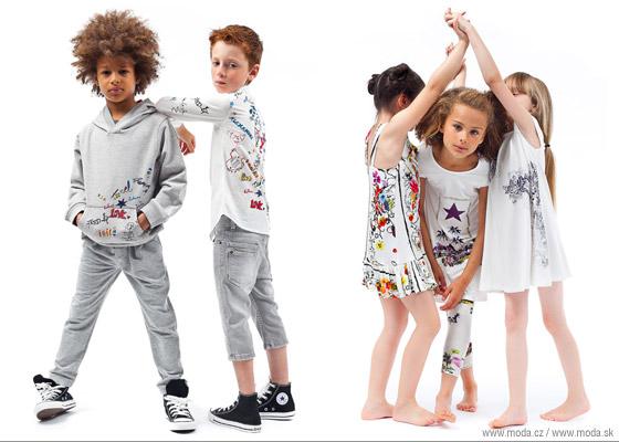 Oblečenie pre deti Junior Gaultier s graffitmi