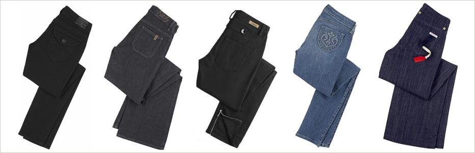 Džínsy v rôznych farebných odtieňoch