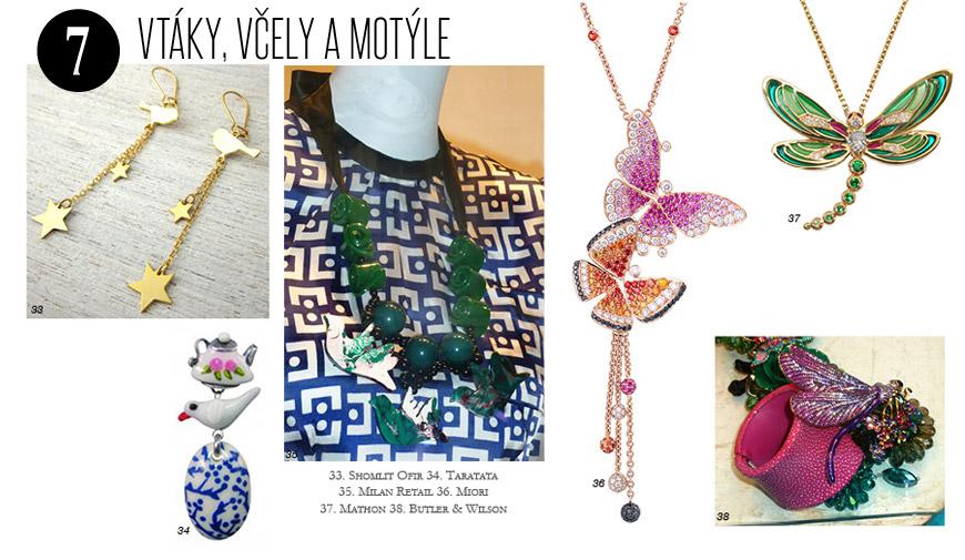 Letné šperky a bižutéria inšpirovanáríšou hmyzu a vtákov