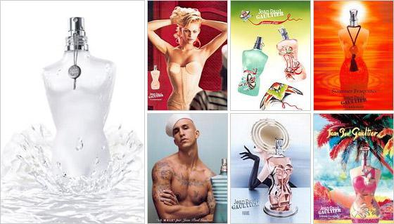 Fľašky parfumov v tvare tela od Gaultiera