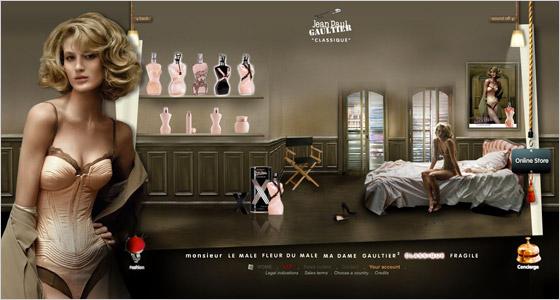 Reklama na parfum od Gaultiera