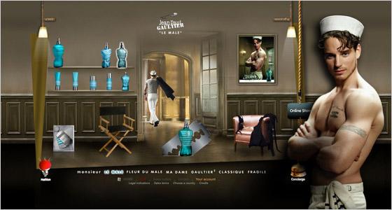 Reklama na parfum Le Male od Gaultiera
