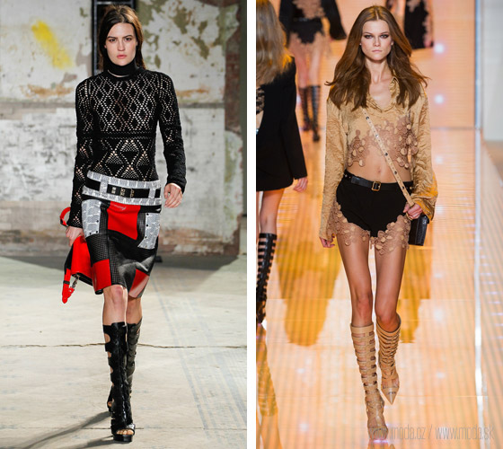 Gladiators boots pre tohtoročnú jar a leto z kolekcií Proenza Schouler a Versace
