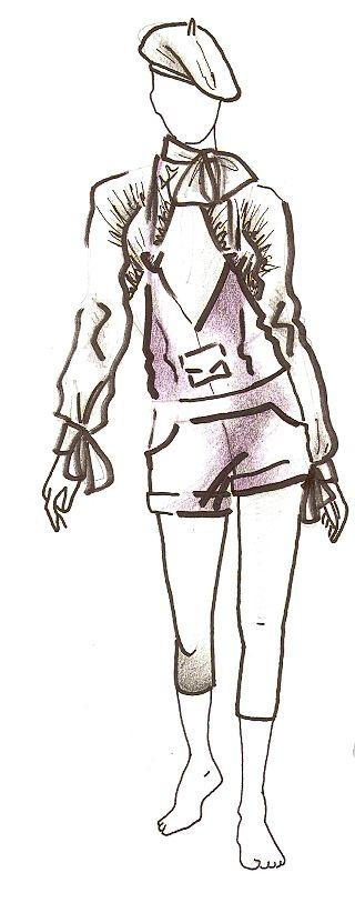 Skica dámskeho outfitu