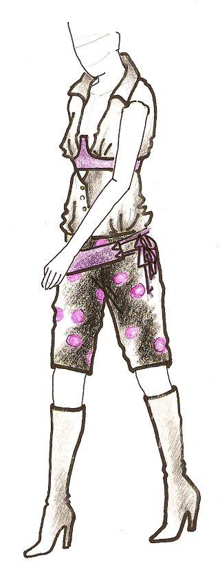 Skica kraťasového outfitu