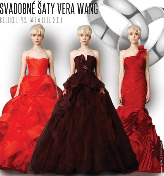 f77d3f0e0faa Svadobné šaty Vera Wang vo farbe červeného vína