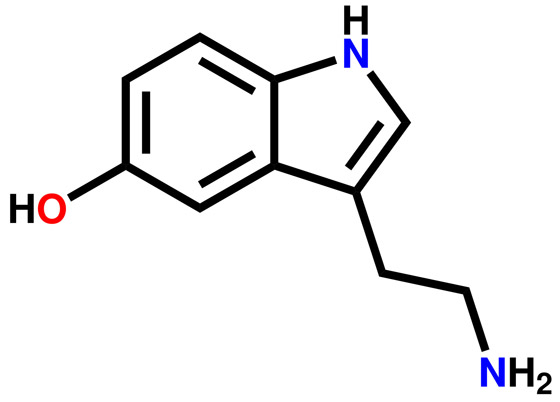 Chemický vzorec sérotonínu
