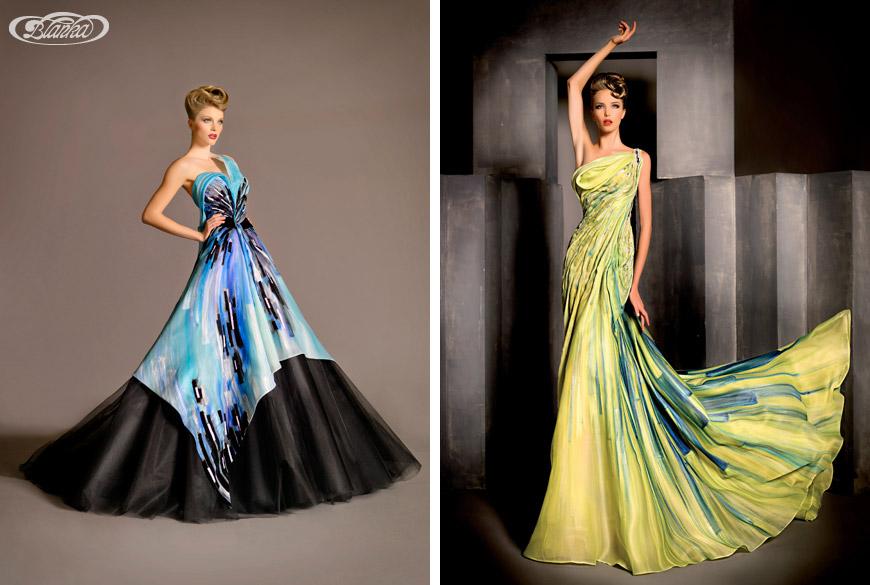 Haute couture šaty z kolekcie Blanky Matragi pri vzniku ktorých sa inšpirovala hudbou a klávesami