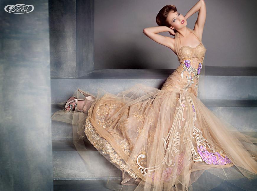 Skôr Blanku Matragi inšpirovala predovšetkým secesia Tieto Haute couture šaty sú z jej secesného obdobia
