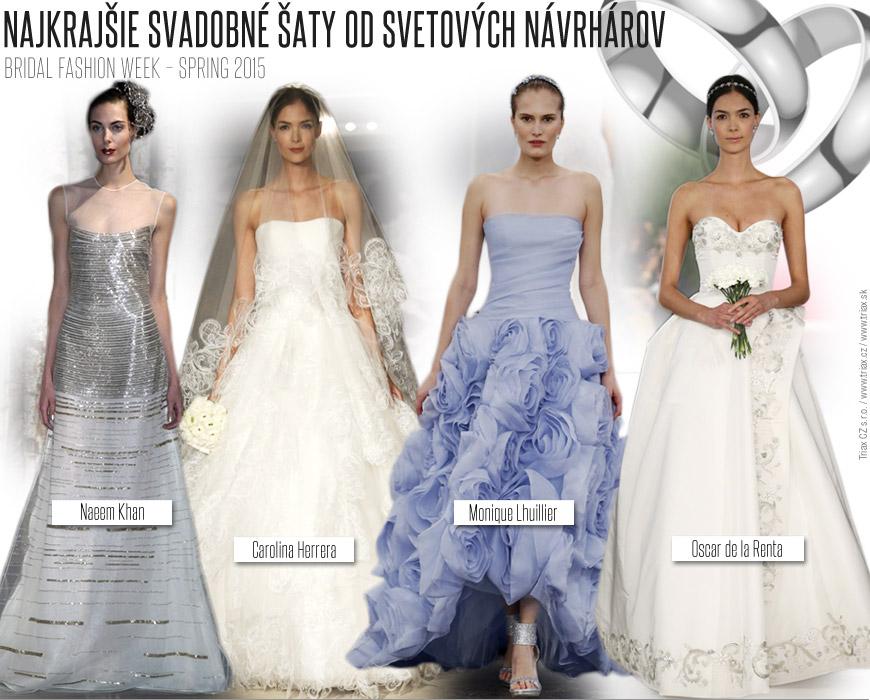 1c930539d919 Jar a leto 2015 bude patriť bielym svadobným šatám aké vidíte v kolekciách  Carolina Herrera alebo