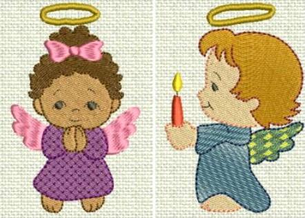 Vianočné nášivky s motívom anjelov