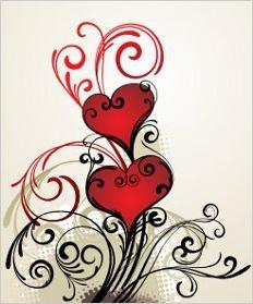 Namaľovaná srdce