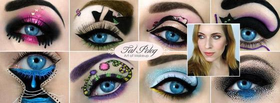Art makeup podľa Tal Peleg dizajnérka sa inšpiruje rozprávkami aj abstraktným umením
