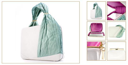 Notebooková taška Lloyd od firmy Violet May vo farebnom prevedení Peppermint White Rose