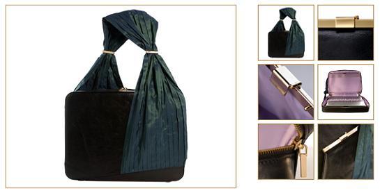 Notebooková taška Lloyd od firmy Violet May vo farebnom prevedení Peacock Black Lilac