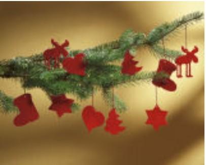 Červené vianočné ozdoby