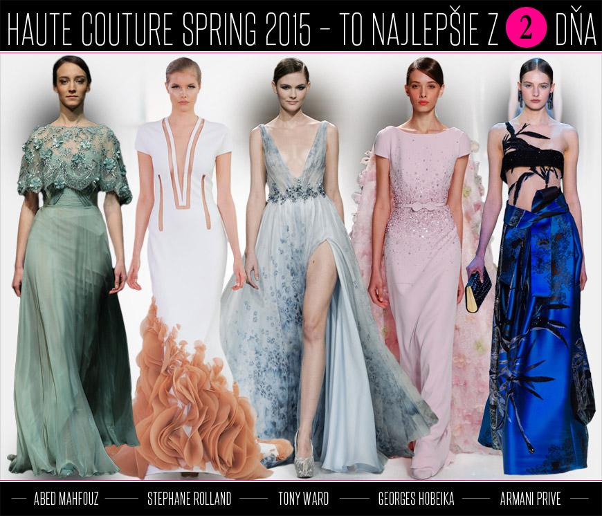 Výber šiat z druhého dňa Haute Couture