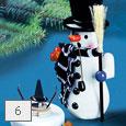 Držiak na vonné tyčinky v tvare snehuliaka