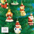 Sklenené ozdoby na vianočný stromček