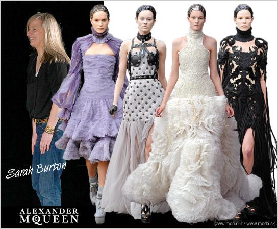 7d6b42b9a5e4 Sarah Burton so svojimi dlhými rbami pre oblečenie značky Alexander McQueen