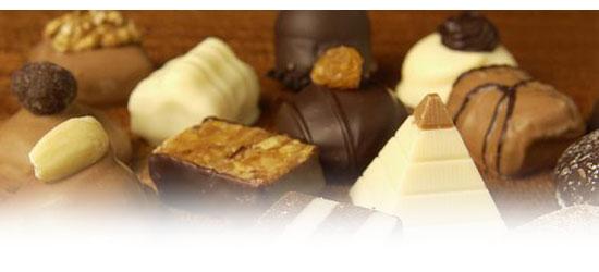Výber rôznych čokolád