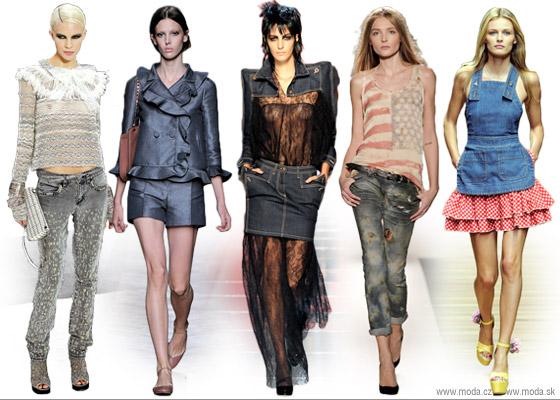 Ukážka džínsových trendov