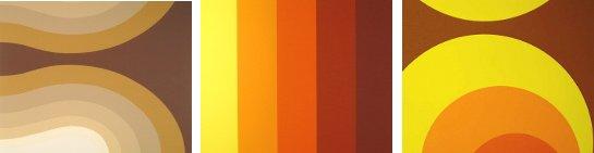Ukážky rôznych retro vzorov tapiet