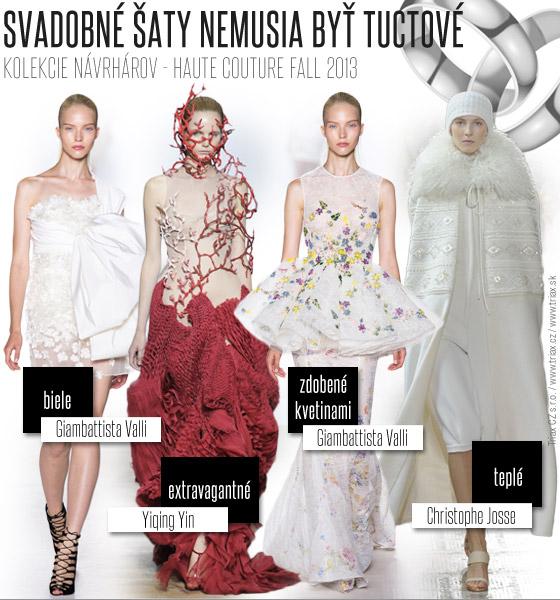 48f0cf952a49 Svadobné šaty nemusia byť úplne tradičné Popustite uzdu svojej fantázie a  inšpirujte sa luxusnými rbami z