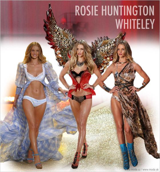 Rosie HuntingtonWhiteley na prehliadke Victorias Secret 2010