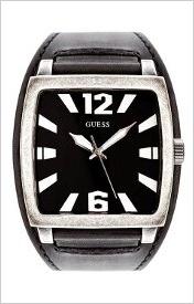 Pánske čierne športovo elegantné hodinky Guess
