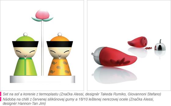 Dizajnové sety na soľ a korenie
