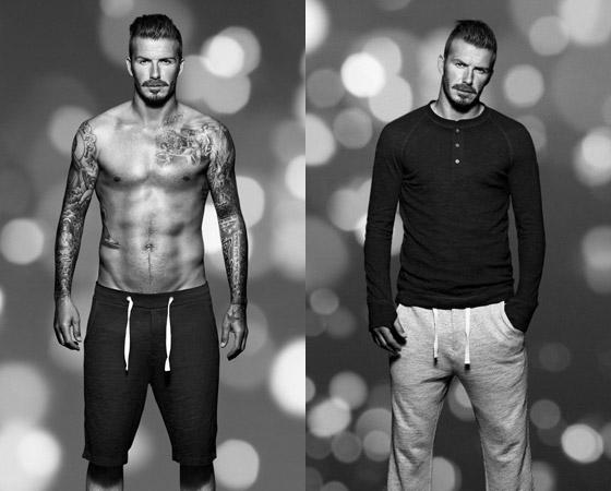 David Beckham v teplákoch HM
