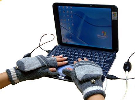 USB rukavice ku klávesnici