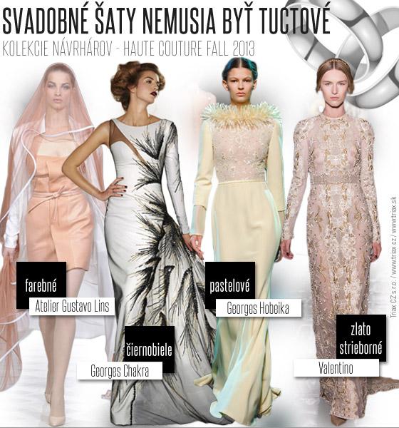 d81ebede93ae Inšpirujte sa témami z Haute Couture Fall 2013 svadobné šaty môžu byť  dokonale krásne aj ke