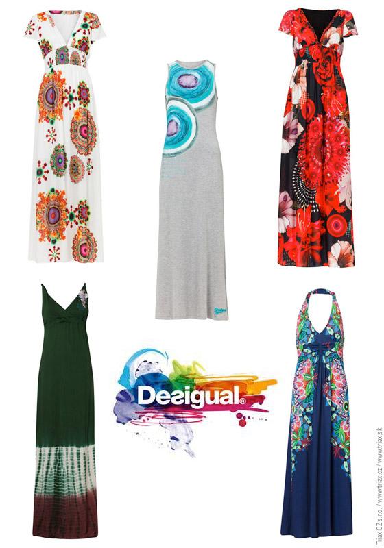 5ffa073c95ed Dlhé šaty z Desigual vás očarujú pestrosťou a farbami