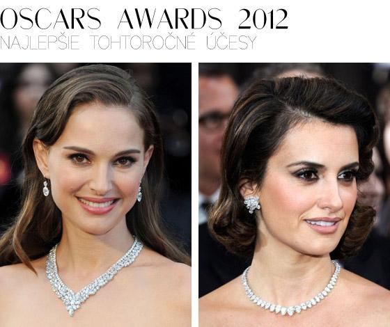Najlepšie účesy tohtoročných Oscars 2012 predviedli Natalie Portman Penélope Cruz Emma Stone a Milla Jovovich