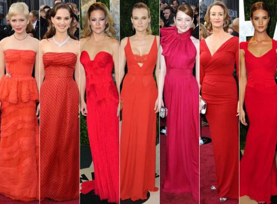 a700b0b84f Ukážka červených šiat z Oscarov