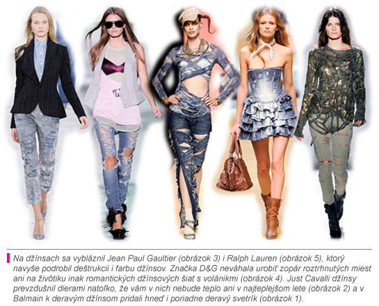 Trendy v roztrhaných džínsoch
