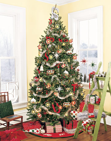 Vianočný stromček s americkým motívom