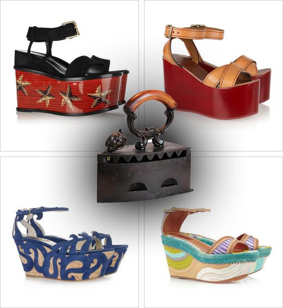 e455860e79b2d Obujte si topánky ako žehličky: sandále na maxi platforme a klinovom ...