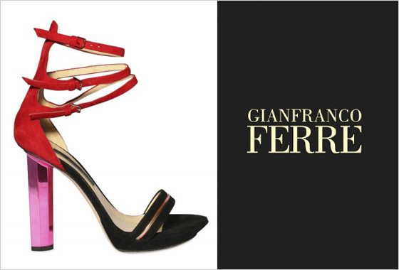 bd417b7663e5c Model členkových sandáliek troch farieb značky Gianfranco Ferré sú dielom  dizajnérov Tommaso Aquilani a Robertom Rimodni ...