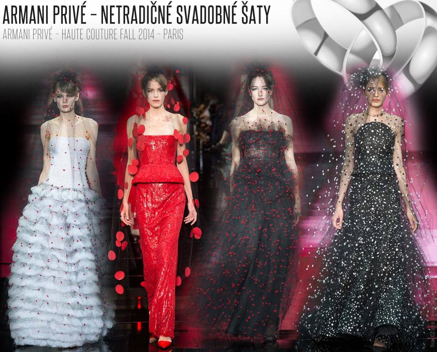 Svadobné šaty s bodkami  Armani Privé  Haute Couture Fall 2014