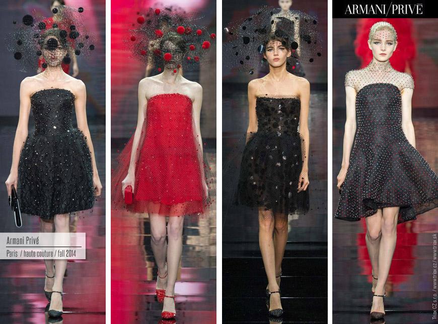 Netradičné svadobné šaty môžu byť aj krátke Tie od Armani Privé navyše osviežili fantastické bodky