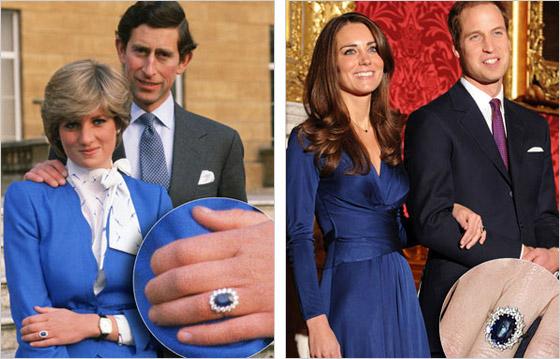 Princ Charles a Lady Diana  princ William a Kate Middleton Princ William venoval Kate zásnubný prstienok ktorý patril jeho matke Lady Di