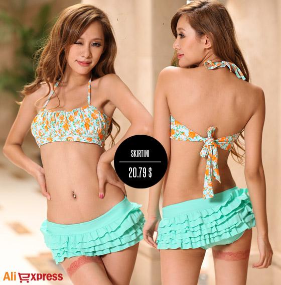 Mini plavky so sukňou