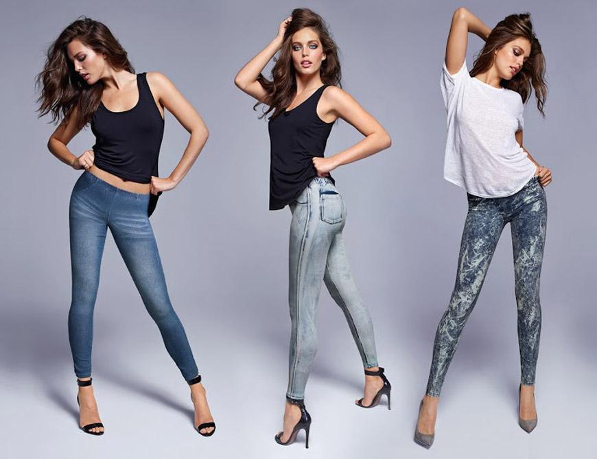 69fc69ab0d Leginy Calzedonia vyzerajú ako pravé džínsy alebo kožené nohavice ...